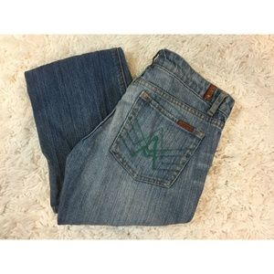 "7 For All Mankind ""A Pocket"" Bootcut Medium Wash"